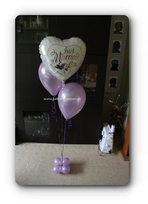 Just Married - kleines Ballongeschenk