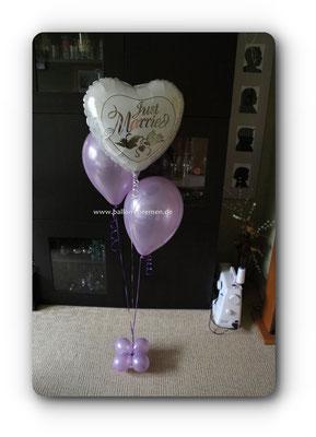Just Married - kleines Ballongeschenk