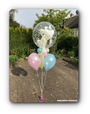 Heliumballons in Pastelltönen