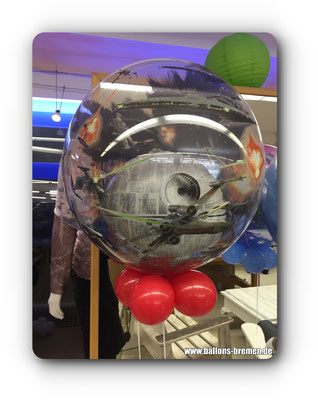 Todesstern im Ballon mit Helium