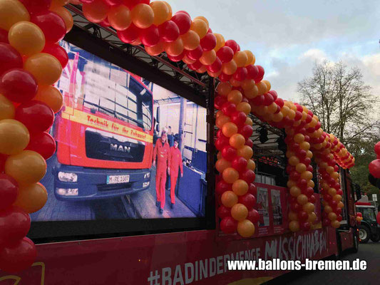 Freimarktsumzug 2018 - Luftballongirlande Bremen