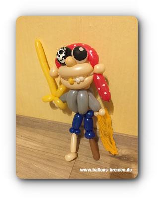 Pirat aus Luftballon mit Brief