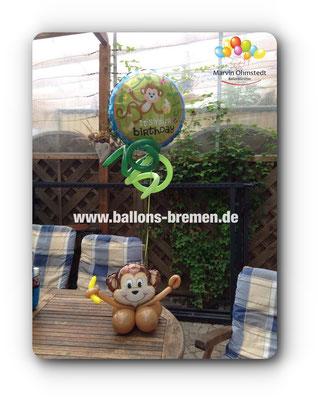 Affen überall - Ballongeschenk mit Banane