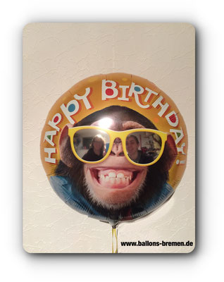 Happy Birthday Monkey Ballon