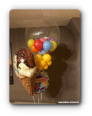 Gumballbubble mit Luftballons