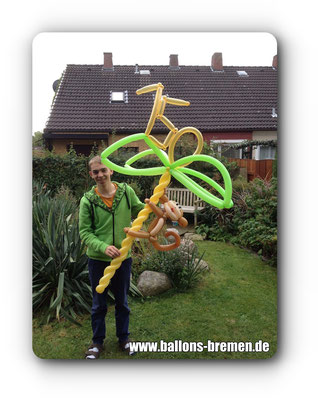 Zahl 150 aus Modellierballons