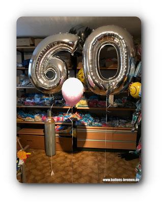 Folienzahl 60 zum Geburtstag