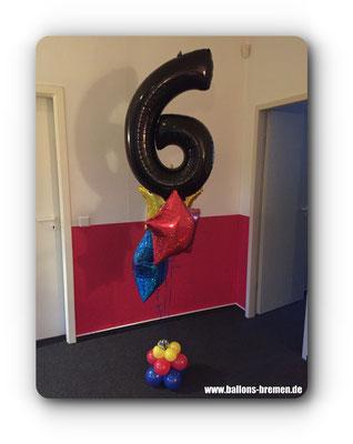 Folienzahl 6 zum Geburtstag
