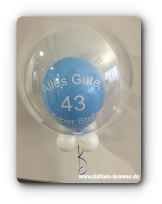 Präsent aus Luftballons zum 43. Geburtstag