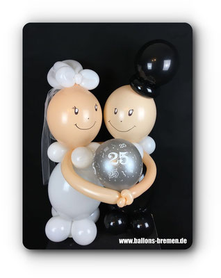 Brautpaar aus Luftballon zur Hochzeit