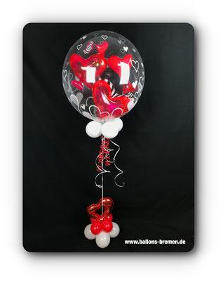 Fliegende Herzen Luftballongeschenk