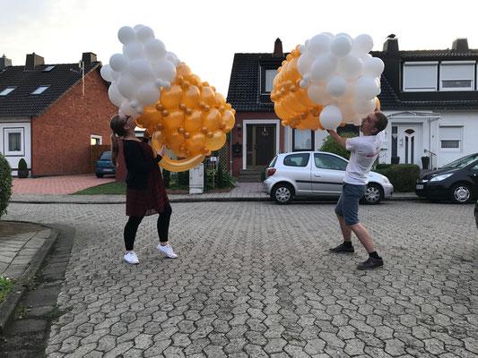 Bierkrug aus Luftballons