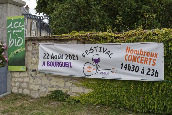 Festival   GUITARE  ET  VIGNE  2021  à  Bourgueil