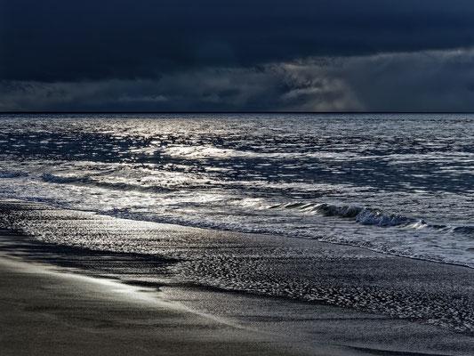 fin de soirée en bord de mer
