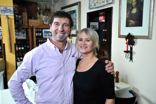 Ristorante Osteria Liguria, Georgie Bellini mit seiner charmanten Frau