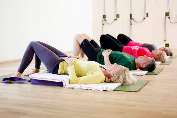 Iyengar Yoga, Schulterstand mit Unterstützung