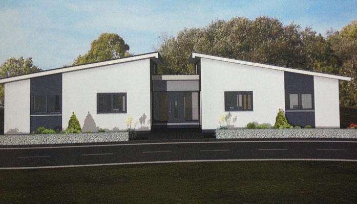 Doppel bungalow grundriss bungalow 172 doppel massivhaus for Doppelbungalow grundrisse