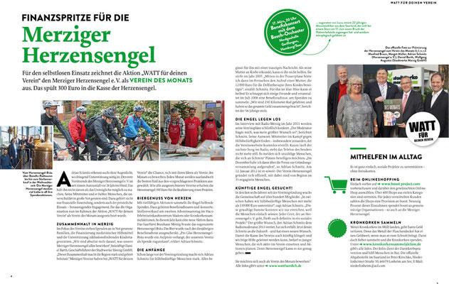 Bericht in dem Kundenmagazin des 4. Quartals der Stadtwerke Merzig