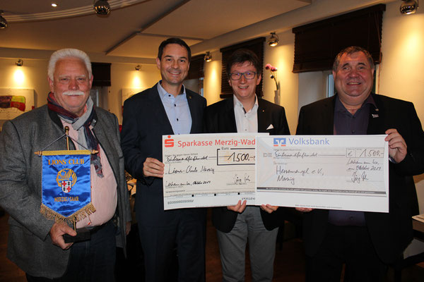 Professor Dr. Jörg Loth überreichte Spenden an den Herzensengel e.V., sowie an den Lions-Club Merzig