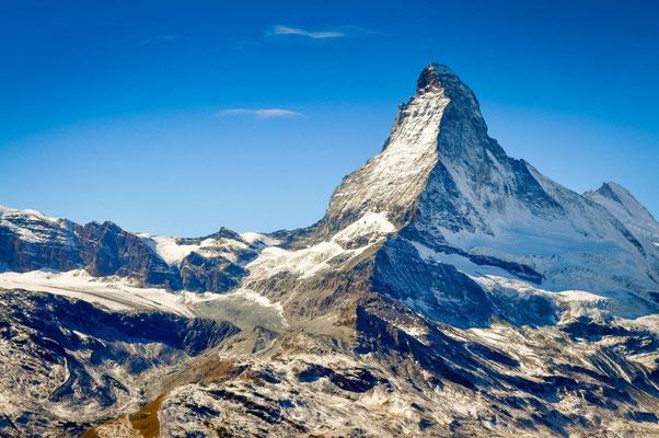 Matterhorn Rundflug im Flugzeug