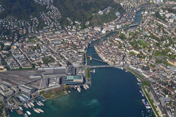 Luzern bei einem Rundflug