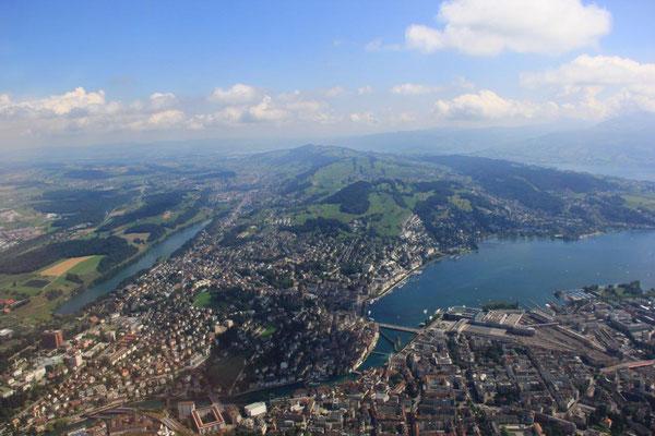 Luzerner Seebecken Rundflug
