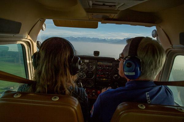 Cockpit von Chessna