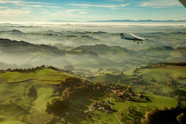 Landschaft beim Rundflug