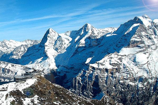 Eiger, Mönch und Jungfrau Flugzeugrundflug