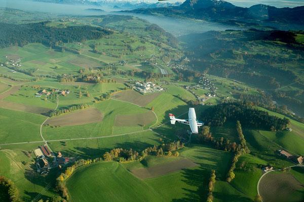 Landschaftsflug