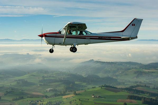 Aussicht beim Rundflug im Flugzeug