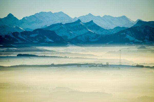 Landschaft bei Rundflug