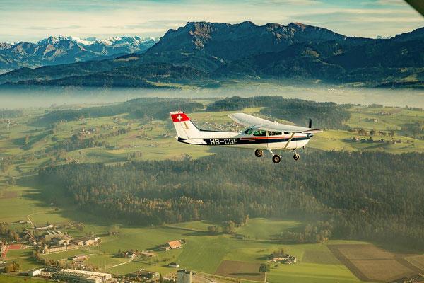 Flugzeugflug Rundflug