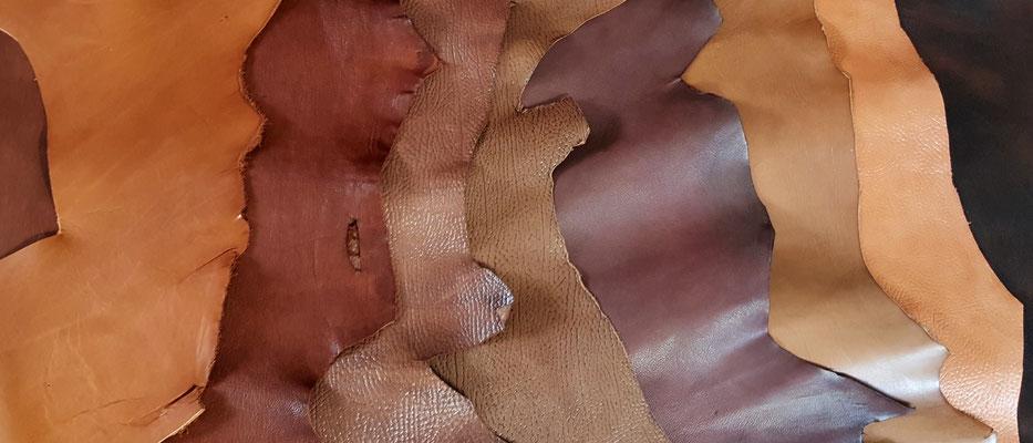 cuir chèvre tannage végétal Atelier Passions Indigo