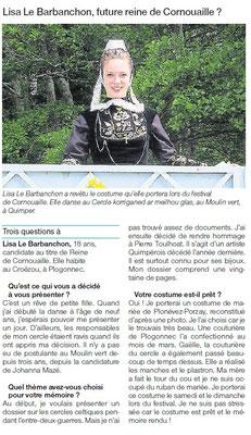 Ouest-France  -  Mardi 21 Juillet 2015