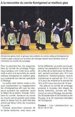 Ouest-France  -  Jeudi 23 Juin 2016