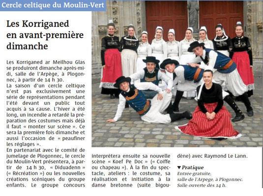 Le Télégramme  -  Samedi 2 Juin 2018