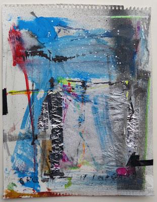 "Andreas Spengler, ""13 - 4 A"", Aquarell und Collagen, 50x60 cm"