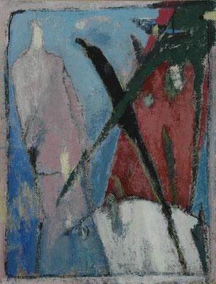"""Gina Gass, """"Fallender"""", Mischtechnik auf Papier, 90x60 cm"""