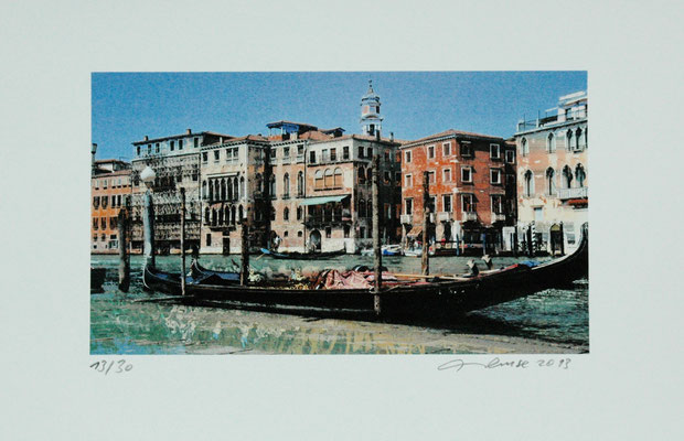 "Wilfred H.G. Neuse, ""Venedig"", Digitalprint,30x40 cm"