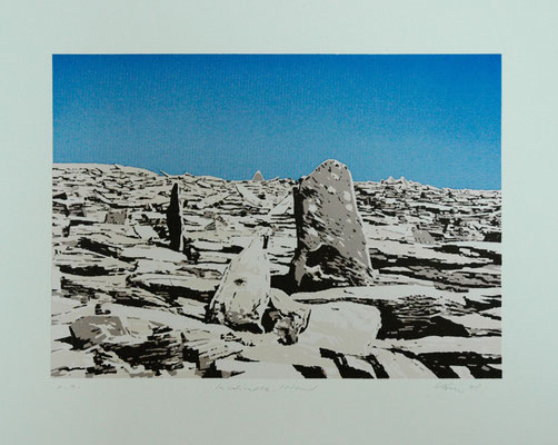 "Claus Vahle,  ""Inishmore, Irland"", Siebdruck; signiert - e.a., 50x60 cm"