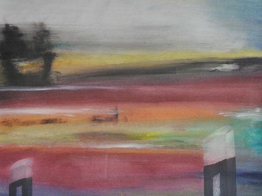 Rainer Janssen, o.T., Leinöl/Pigmente auf Leinwand, 100x80 cm