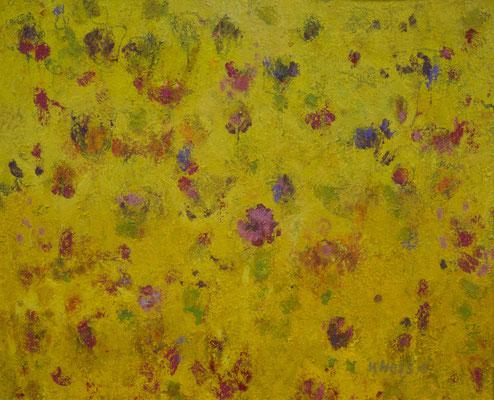 """Karin Hess, """"Hochsommer"""", Pastellkreiden auf Bütten, 56x71 cm"""