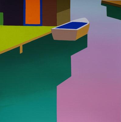 """Julia Steinberg, """"Canale"""", Siebdruck 3/40, 50x50 cm"""