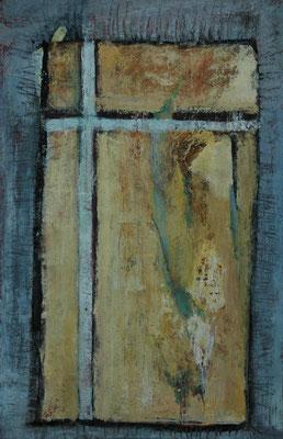 """Gina Gass, """"Lichtes Fenster"""", Mischtechnik auf Papier, 90x60 cm"""