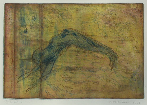 "Ziad El Kilani, ""Springer"", Radierung, 50x60 cm"