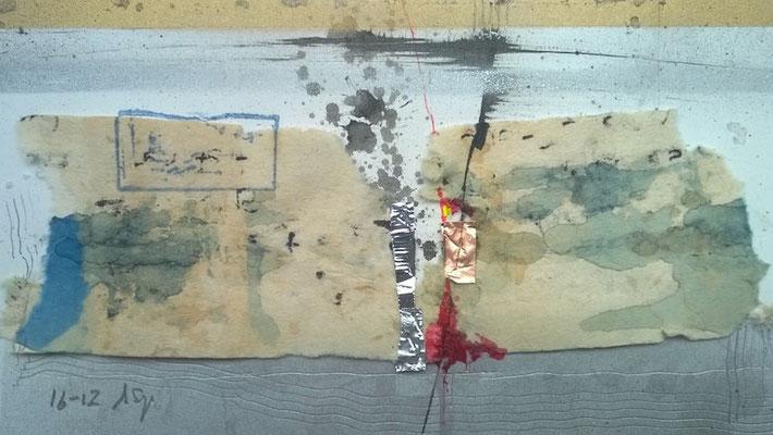 "Andreas Spengler, ""16-12"",Löschpapier-Collage, 30x40 cm"