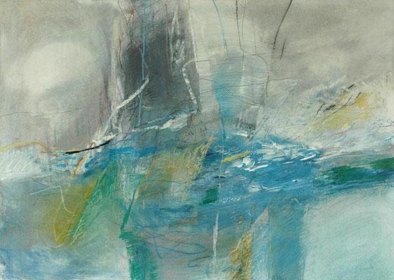 Anne Brömme, o.T. , Acryl/Kreiden auf Papier, 70x100 cm
