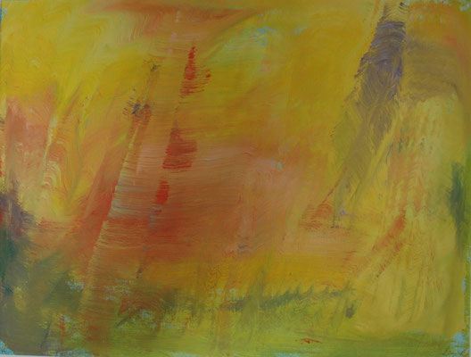 "Stefan Lang, ""Variationen"", Öl auf Papier, 70x100 cm"