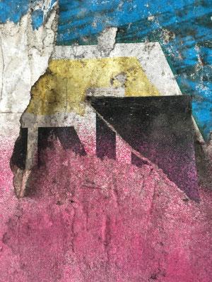 """Otmar Willi Weber, """"Dächer der Stadt"""", Mobilfotografie, 60x45 cm"""
